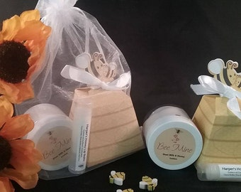 Honey Soap, Detergent Free Soap, Mini Spa Kit, Handmade Soap, Valentines Gift