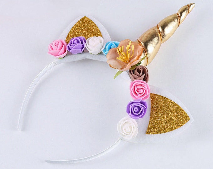 Featured listing image: UNICORN Headband for Unicorn Party Favor