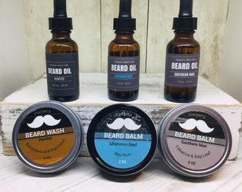 Beard Balm and Beard Oil Mens Grooming Holiday Kit
