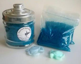 Mermaid salts, beach salts, dead sea salts, Christmas gift, mini spa