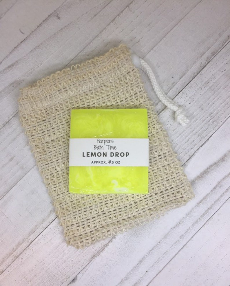 Exfoliating Sisal Natural Soap Saver Pouch Zero Waste image 0