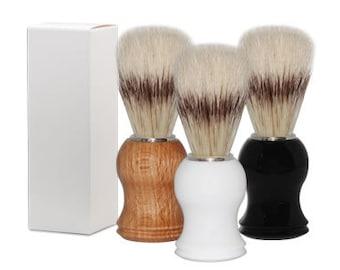Boar Bristle Shave Brush Shave Kit, Badger Shaving Brush, Barber Beard Brush, Old Time Shave Brush