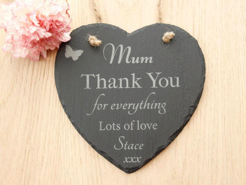 Merci Maman Pour Tout Coeur Plaque Maman Chaleur Plaque Etsy