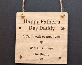 Happy Father's Day Love from The Bump Plaque,Personalised Father's Day Gift from The Bump,Happy First Father's Day from the Bump,Fathers Day