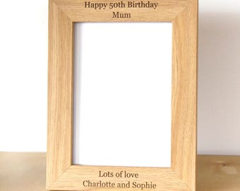 Personalised Photo Frame, Wooden Photo Frame, Photo Frame, Gifts for home, Birthday gift,Personalised gift, Wedding Gift, Christmas Gift