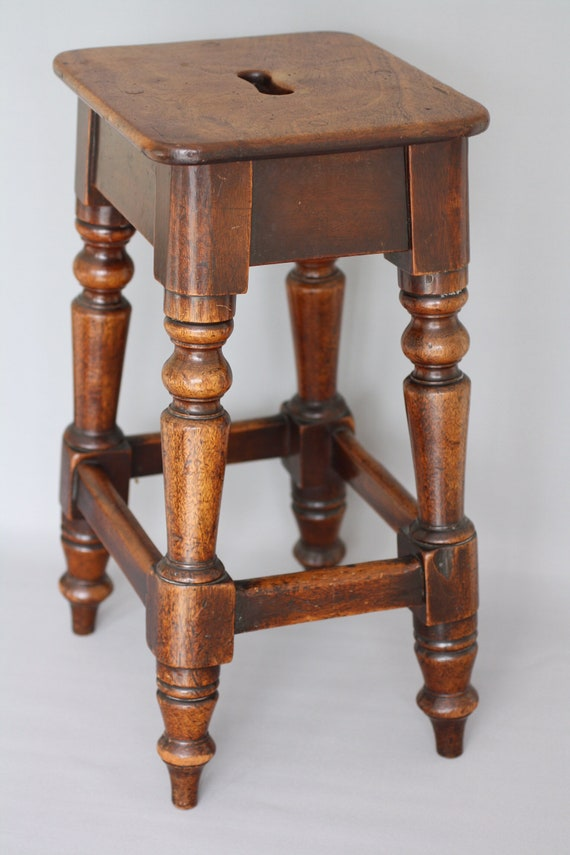 Pleasing Victorian Edwardian Wooden Stool Ocoug Best Dining Table And Chair Ideas Images Ocougorg