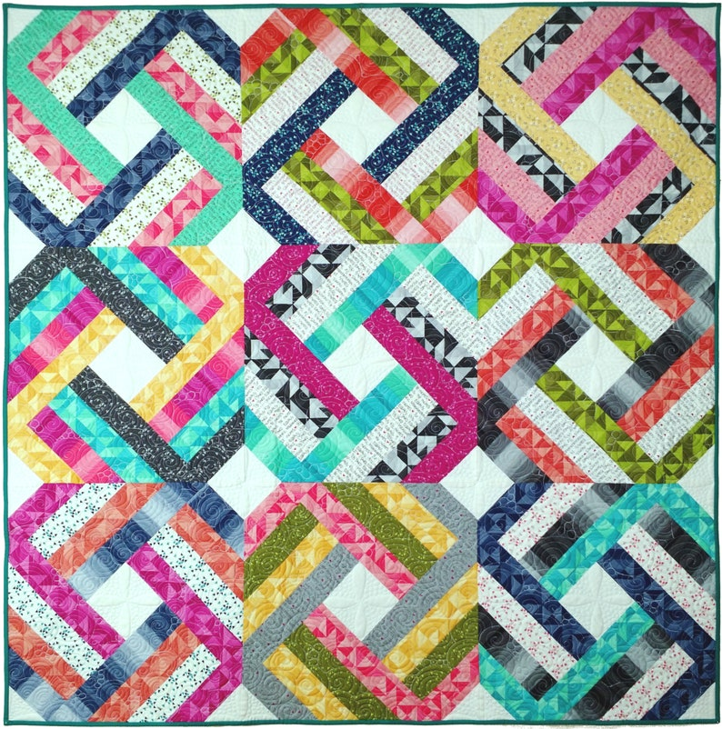 Jelly Roll Precut Quilt Pattern Twist & Slice for image 0