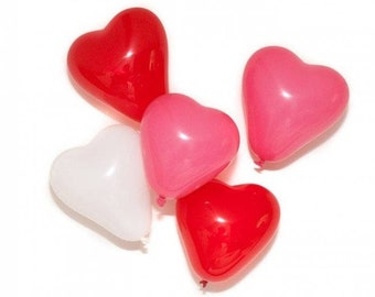 6 Inch Mini Heart Balloon White Pink Red