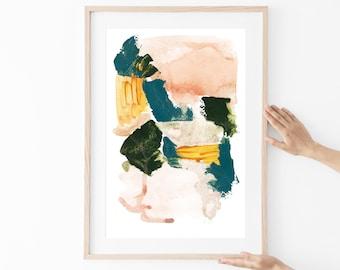 brush stroke wall art,pastel abstract print,printable wall art,neutral wall art,beige and blue,digital download art,modern prints,home decor