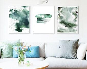 Wall Prints Set Of 3Watercolor SetWatercolor Art Watercolor PrintsAbstract ArtPrintable