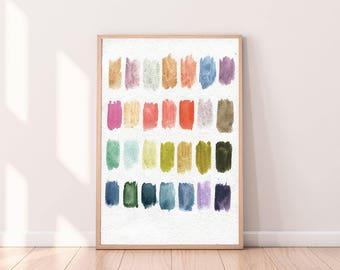 Nursery Art Prints,Abtract Wall Art,Kids Room Wall Art,Abstract Watercolor  Prints,Printable Art,Colorful Art,Playroom Decor,Nursery Wall Art