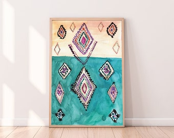 Exceptional Moroccan Decor,Abstract Printable Art, Eclectic Wall Art, Modern Art Print,  Boho Prints, Boho Wall Decor, Moroccan Rug,Eclectic Decor