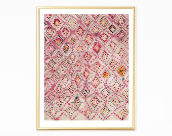 Boho Wall Art Prints, Moroccan Rug, Pink Wall Art, Eclectic Wall Art,