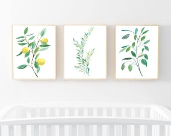 Botanical Nursery Art,Set of 3 Botanical Prints,Nature Art,Neutral Botanical Prints Set,Botanical Art Set,Branches Prints Set,Botanical