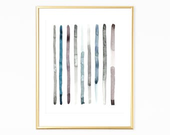 Blue Grey Print,Simple Minimal Watercolor, Abstract Art Print, Minimalist Wall Art, Minimalist  prints, Modern Art, Neutral Watercolor Art