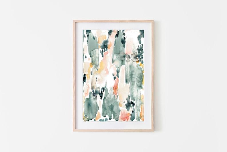 Abstract PrintPrintable Watercolor ArtPastel Abstract image 0