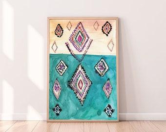 Moroccan Decor,Abstract Printable Art, Eclectic Wall Art, Modern Art Print,  Boho