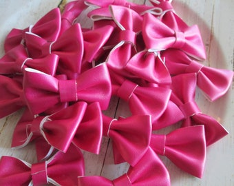 You Choose Quantity Supply Shop Wholesale Ivory Leather 2.5 Bows Without Clips Diy Headband Supplies Bows
