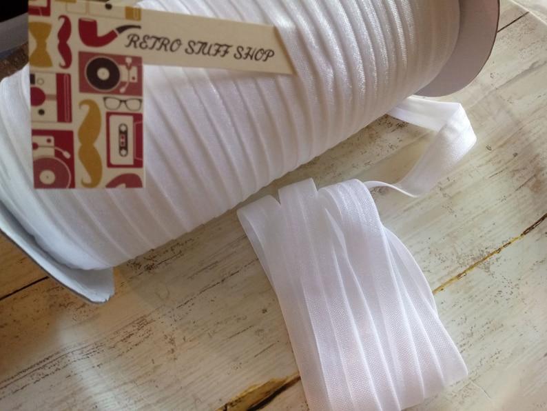 diy supply Supply shop White 58 fold over elastic by the yard FOE elastic elastic for baby headband shiny elastic