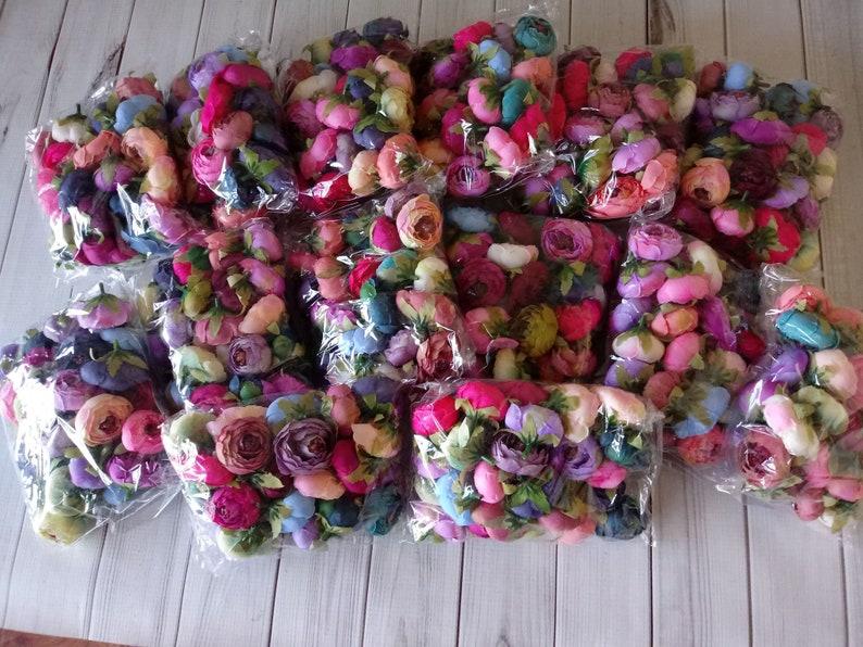 25 flowers per bag Supply Shop 1 Large Peony bag Silk Flower Wholesale DIY Headband Supplies