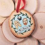 Custom Portrait Ornament, Personalized Ornament, Family Ornament, Couple Portrait Ornament,Couple Ornament