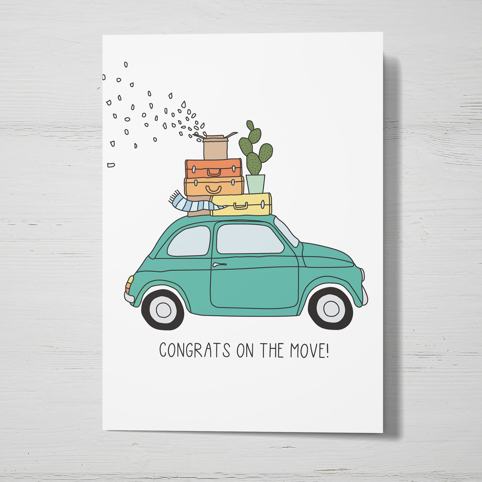 Congrats On The Move Greeting Card New Home Card Moving Etsy