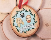 Custom Couple or Family Ornament   Personalized Holiday Ornament