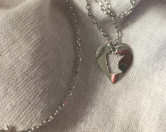 One of a kind sterling silver I love Minnesota pendant