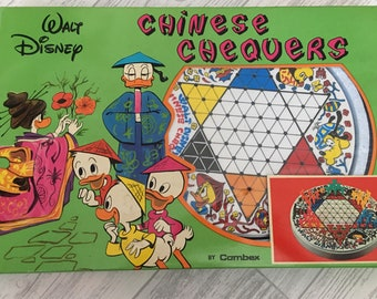 Vintage Walt disney, Chinese chequers, vintage 1960s board game, Huey Dewey and Louie, Donald Duck, Daisy Duck, Disneyworld made in italy
