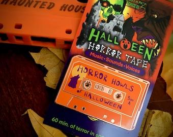 Horror Howls of Halloween Cassette Tape Hard Enamel Pin