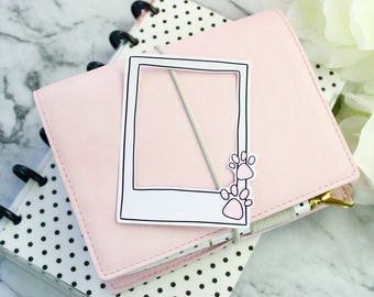 Die Cut | Polaroid Paws | Original Hand Drawn Planner Accessories
