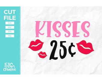 Kisses 25 Cents Svg Etsy