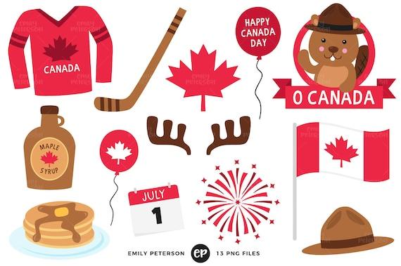 Canada Day Clip Art Canada Clipart Maple Leaf Clip Art Etsy