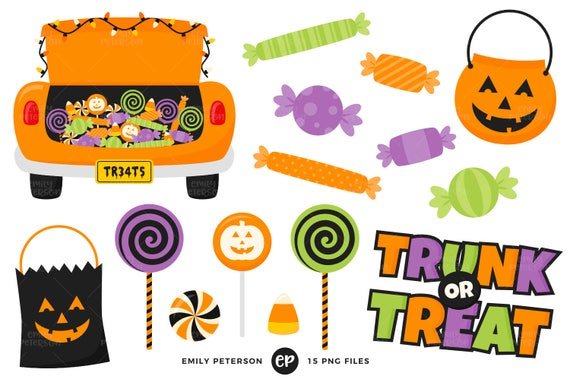 Trick Or Treat Candy Clipart Trunk or Treat Clip Ar...