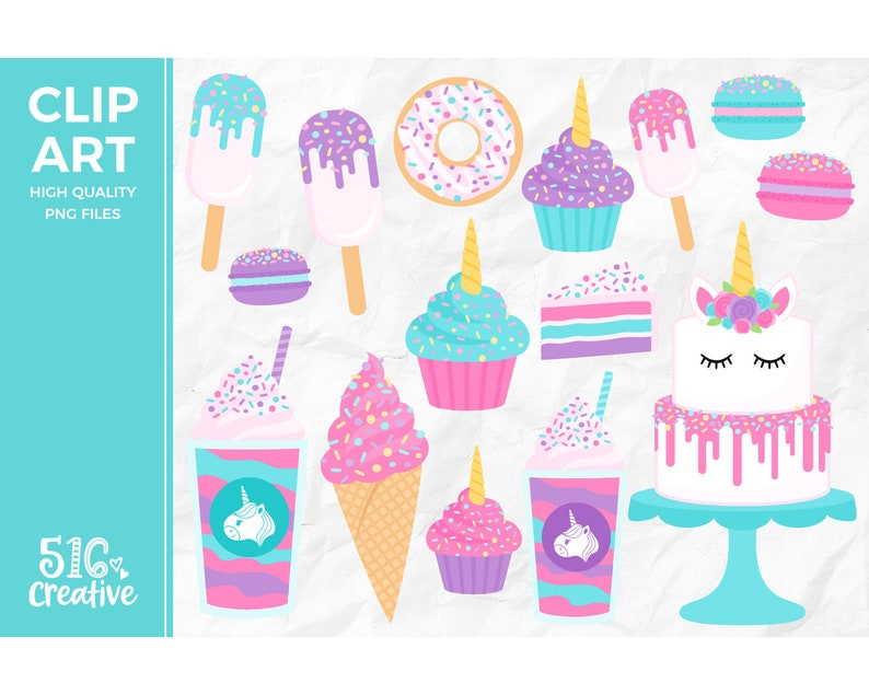 Unicorn Treats Clip Art Unicorn Clipart Unicorn Cake Clip ... (794 x 635 Pixel)