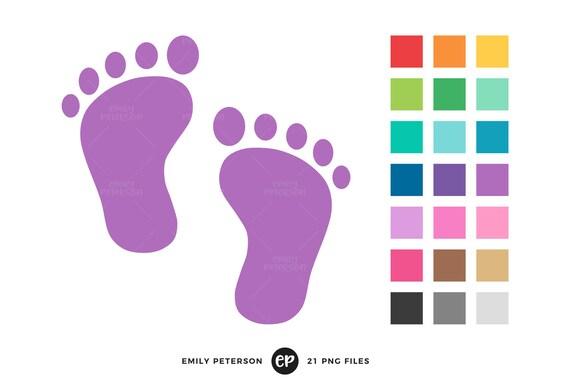 baby footprint clip art baby shower clipart nursery clip art etsy rh etsy com baby footprints clipart png baby footprints clip art free