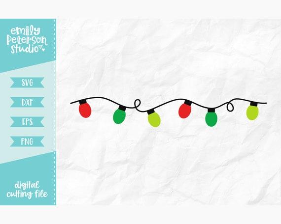 Christmas Lights Svg Christmas Tree Svg Svg Dxf Eps Png Etsy