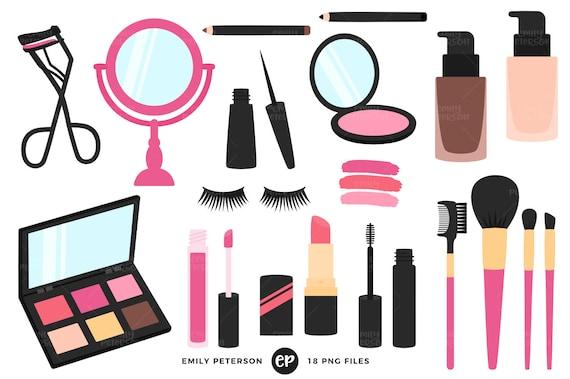 makeup clip art beauty clipart girly clip art commercial etsy rh etsy com makeup clipart svg makeup clipart svg