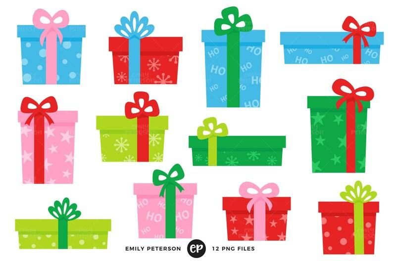 Weihnachtsgeschenke Clipart.Weihnachten Clip Art Clipart Weihnachtsgeschenke Weihnachtsgeschenke Clipart Kommerzielle Nutzung Sofort Download