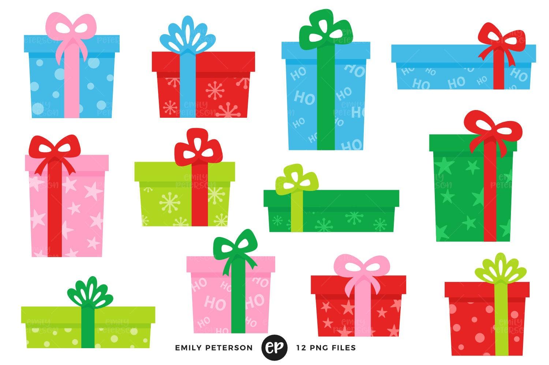 Weihnachten Clip Art Clipart Weihnachtsgeschenke | Etsy
