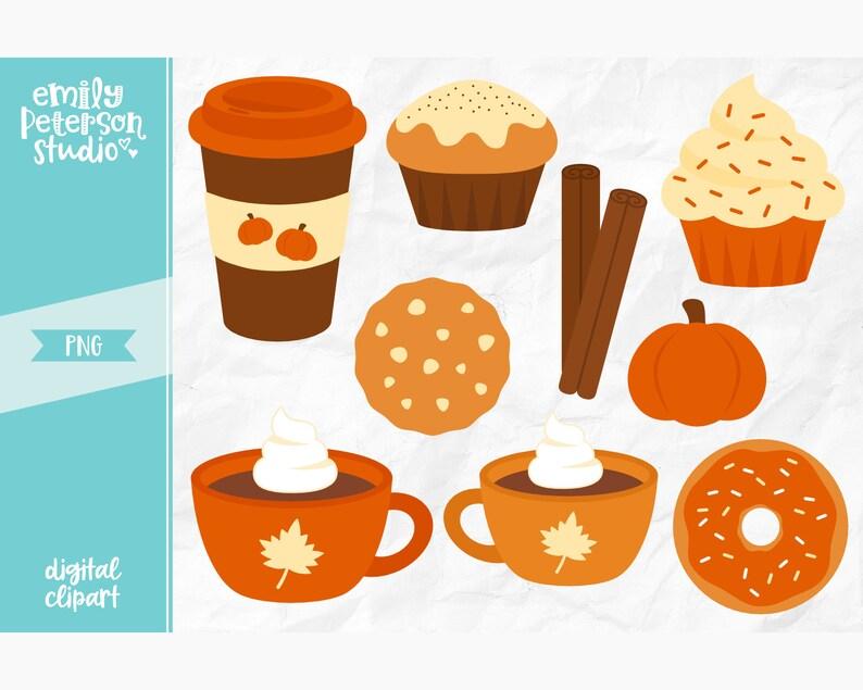 Pumpkin Spice Clip Art Fall Clipart Coffee Clip Art | Etsy