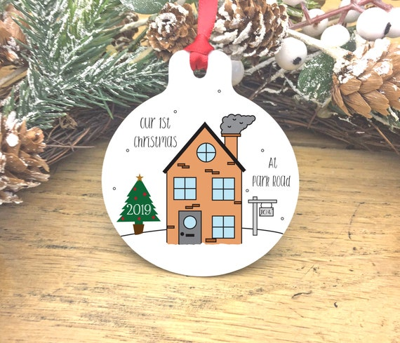 First Christmas In Our New Home 2019.First Christmas In Our New Home Decoration New House New Home Bauble New House Gift For Them Small Present For Him And Her