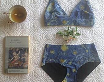 994c4d3e2661 Bra and Panty Set, Starry Night Van Gogh