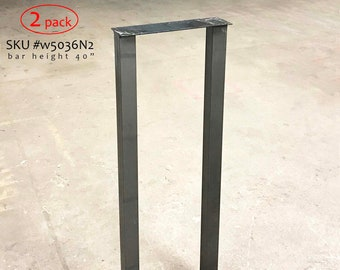 Bar table legs etsy h 40 inch w5036n2 plus bar height pub table u legs 1 pair watchthetrailerfo