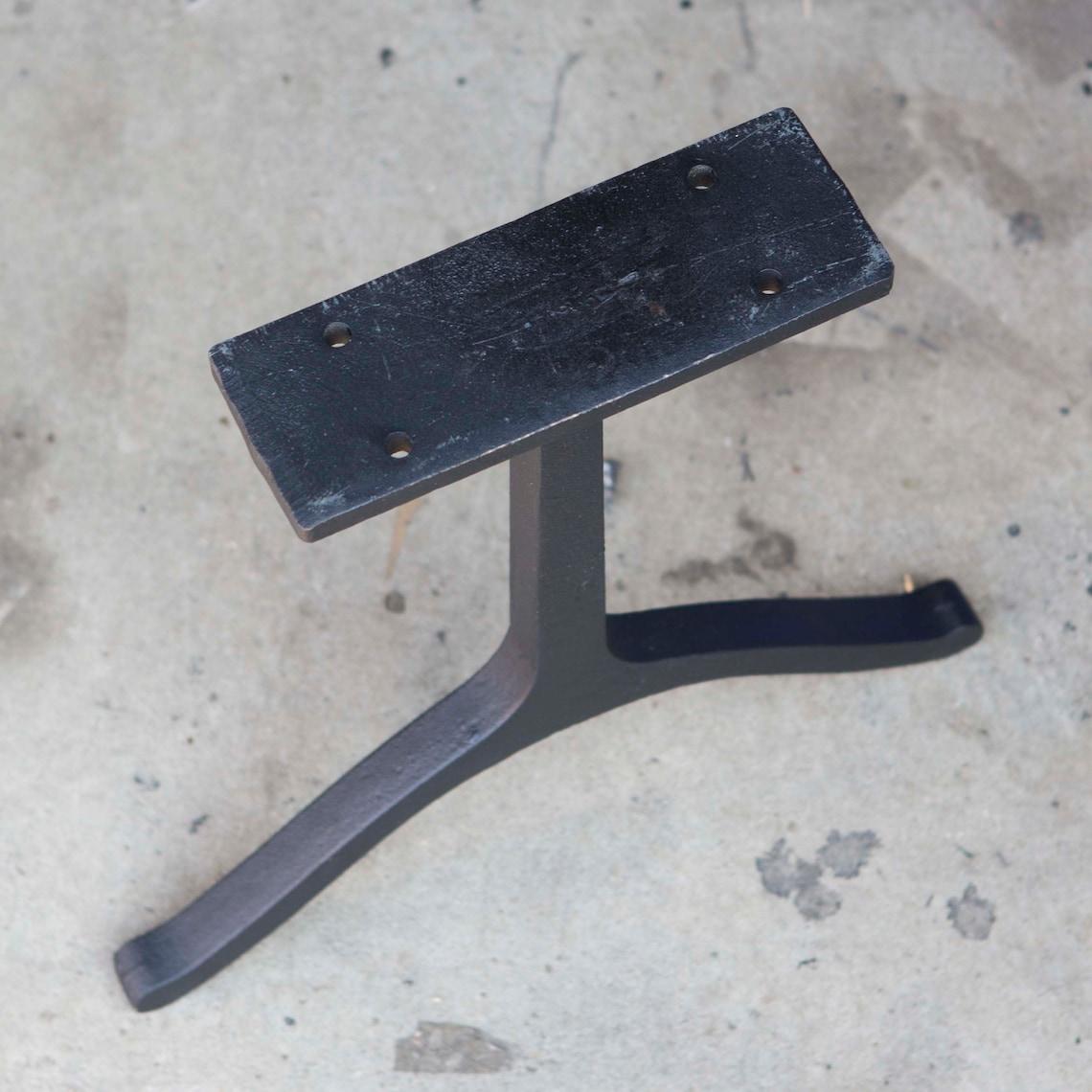 WB410 Wishbone Bench Legs, Cast Iron, 2 pack