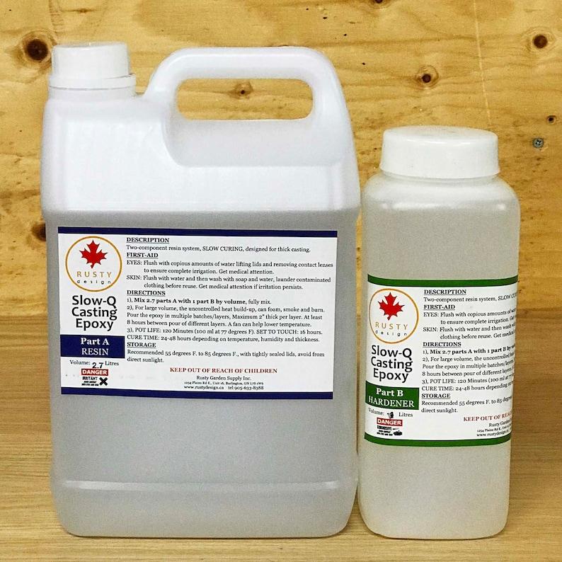 SLOW-Q CASTING, Epoxy Resin, Medium pack 3 7 litres (1 Gallon)