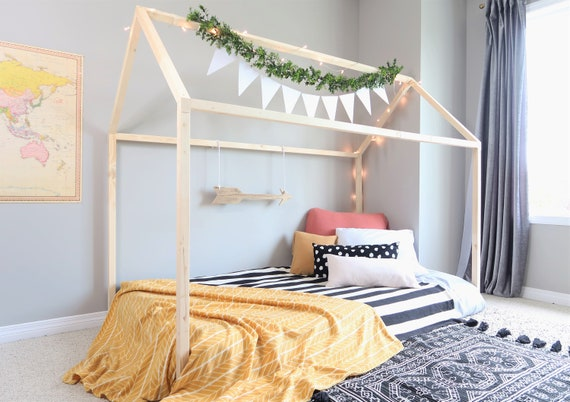 hot sale online 0609b c5ce3 Toddler Bed. Full Toddler Bed. Toddler Floor Bed. House Bed. House Bed  Frame. Kids Bed. Bed Frame. Bedding. Kids House Bed. Bed. MADE IN CAN