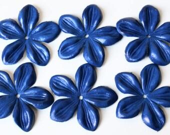 jasmine leather flowers set of 8 pcs