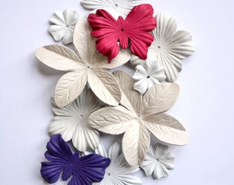 leather flower set and butterfly