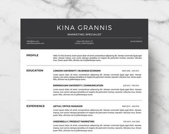 Professional and Modern Resume Template for Word | Creative Resume Design | CV Template for Word | Instant Download Resume | Easy Edit